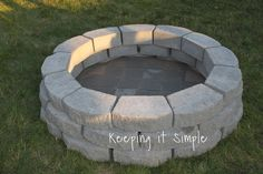 This post contains affiliate links.  Over the weekend my husband and I decided to build a fire pit in our back yard.  We have been...