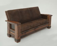 Glacier Bay Settee and Coach; hand carvings, premium leather, wildwood bark panels, 100 year old beams; Barnwood Table;  Rustic, Cabin, Lodge, Western, Southwest Furniture; The Refuge Lifestyle