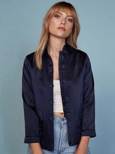The Koi Jacket https://www.thereformation.com/products/koi-jacket-navy?utm_source=pinterest&utm_medium=organic&utm_campaign=PinterestOwnedPins