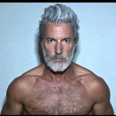 Nick Wooster is giving me life, but I don't know who he is. I just love the way he embraces his maturity. Aiden Shaw, Nick Wooster, Hairy Men, Bearded Men, Grey Beards, Hommes Sexy, Beard Tattoo, Older Men, Hair And Beard Styles