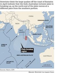Sumatran earthquakes in April were part of tectonic plate breakup   The Extinction Protocol: 2012 and beyond