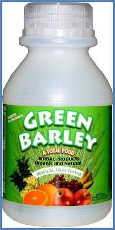 Green Barley is the only vegetation on earth that can supply the sole nutritional support for humans from birth to old age. It is recognized by Science as the most nutritious of all plant food for its chlorophyll, enzymes, vitamins and minerals. Barley Grass, Vitamins And Minerals, Natural Healing, Herbalism, The Cure, Health Fitness, Nutrition, Fruit, Bottle