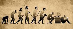 Evolution - too funny! Art Pictures, Best Funny Pictures, Evolution Tattoo, Social Media Humor, Good Cartoons, Satirical Illustrations, Man Illustration, Sarcasm Humor, Funny Art