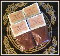 Dragons Blood Powder Incense ~ Wicca ~ Witch ~ Pagan ~ Rituals ~ Incense ~ Spell Casting ~ Altar ~ Aromatherapy ~ Self Lighting Incense by SummerlandBB on Etsy