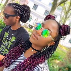 My new hair color is LIFE thanks to @sabineshallway . . . . #brooklyn #nycevents… Natural Hair Tips, Be Natural, Natural Hair Styles, Dreadlock Styles, Dreads Styles, Black Women Hairstyles, Cute Hairstyles, Trending Hairstyles, Dreadlock Hairstyles