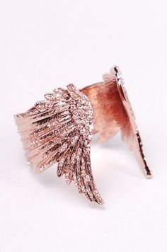 wildfox rose gold plated wing bracelet