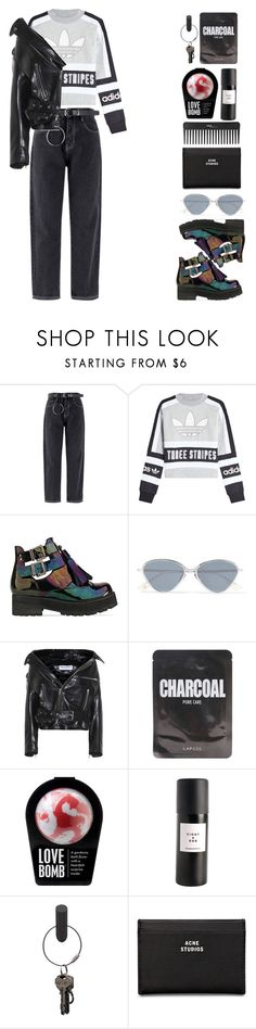 """""""So convinced that I'm dead"""" by emmaadv ❤ liked on Polyvore featuring adidas Originals, To Be Announced, Le Specs, Balenciaga, Lapcos, Eight & Bob, PA Design, Acne Studios and Sephora Collection"""