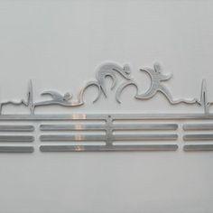 Triathlon Heartbeat Medal Hanger.   SA Medal Hangers - Premier Medal Hanger designers | Hello Pretty. Buy design.