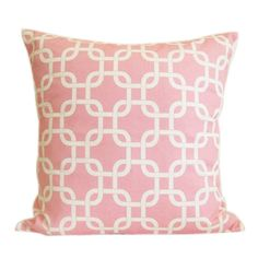 Popeven Pink and White Chainlink Decorative Throw Pillow Covers