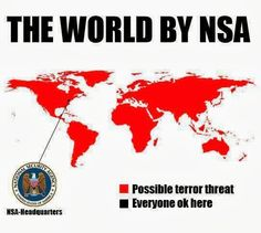 The world by NSA | Anonymous ART of Revolution .... too much black on that map imo