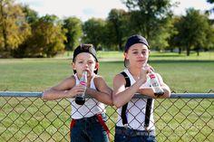 Tween Photography, Port Huron Tween Portraits, tween picture ideas, tween inspiration, young teenagers, tween photos by DH Photographs | www.dhphotographs... Keywords: brothers, young boys, baseball, tween, Coke, pop, bottle, ball, tween, vintage baseball, sports, fence