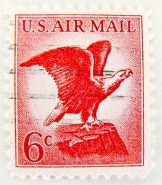 USA air mail stamp 6c