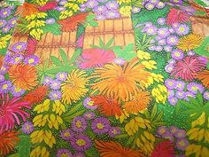 Vintage Flower Sheets  30 inch by 2 feet