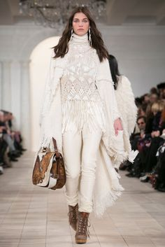 A look from the Ralph Lauren Fall 2015 RTW collection.