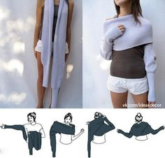 Great idea of the sweter