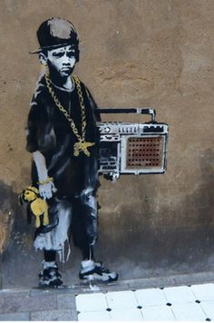BBoy by Banksy...! *^ Combining breaking and graff - complete art