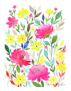 Medley Art Print by stephanieryanart on Etsy, $22.00