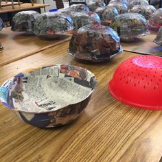 Paper Mache Bowls and Colanders