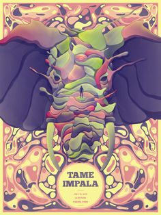 Tame Impala Madrid 2010 Poster