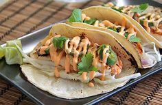 C – Shrimp tacos are one of my favorites. Gf Recipes, Easy Healthy Recipes, Seafood Recipes, Mexican Food Recipes, Healthy Food, Healthy Eating, Grilled Shrimp Tacos, Shrimp Marinade, Large Shrimp