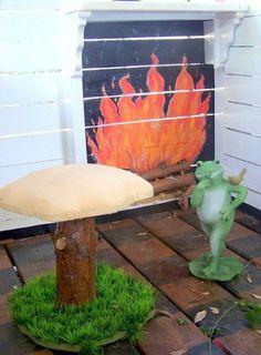 NEW Whimsical Toad Stool Mushroom Chair tree toadstool house dollhouse | Royalkane - Children's on ArtFire