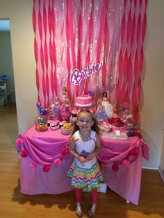 Connie T's Birthday / Barbie sparkle - Photo Gallery at Catch My Party Barbie Party Decorations, Barbie Theme Party, Barbie Birthday Cake, Birthday Decorations, Girl Birthday, Toddler Birthday Themes, 6th Birthday Parties, Birthday Ideas, Indoor Birthday