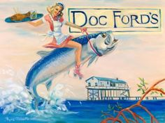 Myra Roberts painting of Doc Ford's