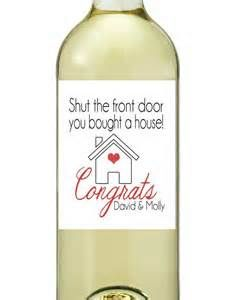 Cute housewarming wine label