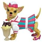 Aye Chihuahua Resin Dog Figurine - Ice Cream Parlor - http://cutefigurines.net/aye-chihuahua/aye-chihuahua-resin-dog-figurine-ice-cream-parlor/
