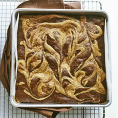 Peanut-Butter Swirl Brownies! I need to make these for Dad!