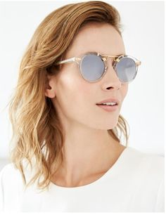 1a2f8bcc36c6 Krewe St. Louis Crystal Sunglasses - Gold on. Garmentory