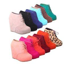 Lace up Platform Wedge Bootie - http://shoes.goshopinterest.com/womens/boots/fashion/lace-up-platform-wedge-bootie/