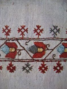 Croatia - Birds of Ohio: Yugoslavian/Croatian Folk Embroidery Hungarian Embroidery, Embroidery Motifs, Learn Embroidery, Hand Embroidery Designs, Machine Embroidery, Folk Clothing, Textiles Techniques, Antique Quilts, Fiber Art