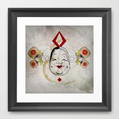 J_mask Framed Art Pr