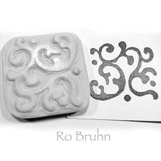 Hand carved patterned stamp by robruhn on Etsy, $15.00