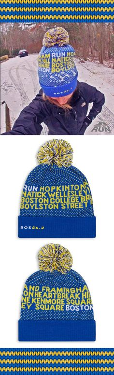 Our Boston 26.2 Knit Hat keeping runners warm all winter long! Thanks @mamasrunnin for sharing your #goneforarun style with us. ❄️‍♀️