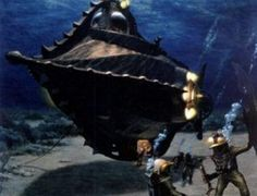 Leagues Under The Sea' The Nautilus submarine exudes a combination of sleek beauty and menace. Ancient Technology, Leagues Under The Sea, Scenic, Nautilus, Alternate History, Cary Grant, The Girl With The Dragon Tattoo, Jules Verne, The Twenties