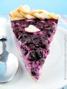 Blueberry Cream Cheese Pie by Cinnamon Spice and Everything Nice