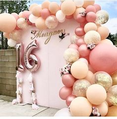 super Das wird dich motivieren Geburtstagsdekorationen Diy Party Ideas super This will motivate you Birthday Decorations Diy Party Ideas 47 # … – Sweet 16 Themes, Sweet Sixteen Parties, Balloon Garland, Ballon Backdrop, 16 Balloons, Balloon Arch, Balloon Wall, Ballon Arch Diy, Party Ballons