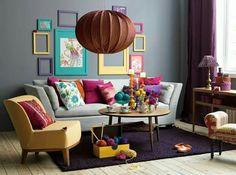 Colourful/Pastel Living Room Idea