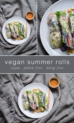 Vegan Recipes | Summer Rolls. Vegan, gluten free, dairy free, optional nut free and the best party food ever!