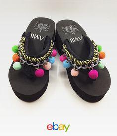 Women Summer Soft Wedge Sandals Heels Platform Beach Flip Flops Slippers  Shoes 233cb46210d4
