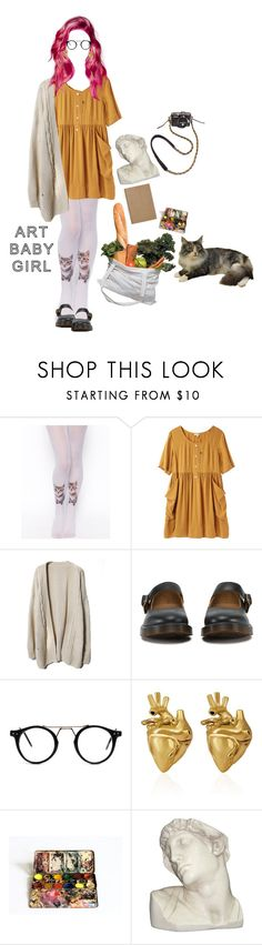 """""""I feel you're nervous when you see me ripping at your clothes"""" by amberundead ❤ liked on Polyvore featuring Market, ASOS, Steven Alan, Dr. Martens, StrangeFruit, House Parts and SFK"""