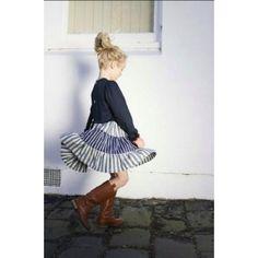 Chalk n Cheese Schroom Navy Stripe Dress