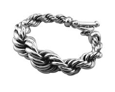 BT1617  heavy rope sterling silver bracelet http://www.tianguis.co.uk/shop/index.php/sterling-silver-wristwear/bt1617-heavy-rope-sterling-silver-bracelet.html