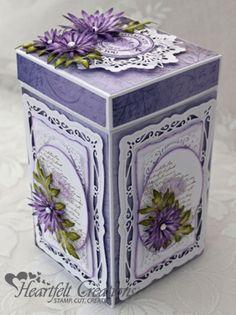 Spellbinder Radiant Rectangles, Heartfelt Creations | Purple Asters Gift Box