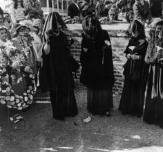 Joe Cain's Merry Widows, a perennial feature of the Joe Cain Day, Mardi Gras celebrations in Mobile, Alabama, United States, 1974, photograph by Clarence Keller.