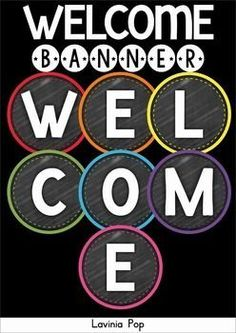 FREE Back to School Classroom Decor: Welcome Banner. Chalkboard or white background.