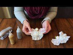 Lace angels and some flowers. Lace found at Raspberry Junction Craft Mall. - YouTube