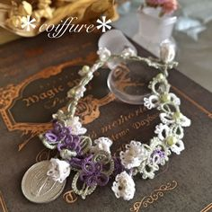 紫陽花とラベンダー の画像|*一結一会* 結んで、出会った 糸結作家*coiffure*のタティングレースブログ